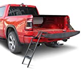 Tecoom Tailgate Ladder Aluminium Alloy Custom Compatible with Ford F150 Ram 1500 No Drilling/Universal Fit Self Drilling