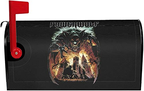 Powerwolf Mailbox Cover Magnetic Standard Size, Mailbox Covers Wraps Post Letter Box Cover Home Garden Yard Outside Decorative 25.5x21 in 2021 Gifts
