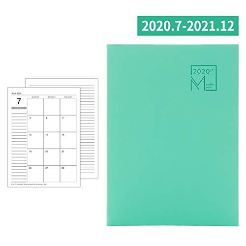 HELYZQ Agenda 2020 – 2021 Organizador B5 cuaderno y revistas mensuales semanales