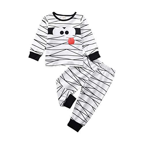 JERFER Kleinkind Kinder Baby Mädchen Junge Halloween Tops + Lustig Mumie Hose einstellen Pyjama Outfits