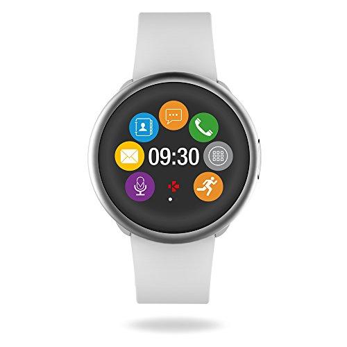 MyKronoz ZeRound2 Smartwatch avec écran couleur tactile, microphone et haut-parleur intégré –...