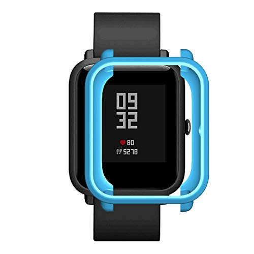 2020 Nuevo! Soft TPU Funda Protectora Compatible para Xiaomi Huami Amazfit Bip Youth/Lite Watch, Suave de Silicona Smartwatch Carcasa Protector Difícil Marco Cáscara Manga Reloj Funda (Cielo azul)