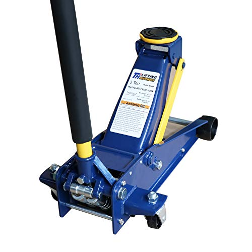 Heavy duty 3 Ton Floor Jack, Steel Hydraulic Service Jack Quick Rise With Double Pump Quick Lift, Blue HT3300