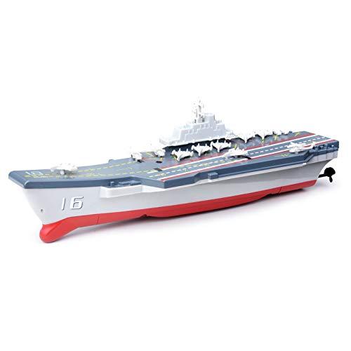 LOVEYue 2.4G Mini RC Barco Barco De Guerra Modelo Simulación Barco De Guerra De La Marina De Guerra Juguete De Lancha Rápida, Juego De Regalo De Juguete Intelectual Niños UN