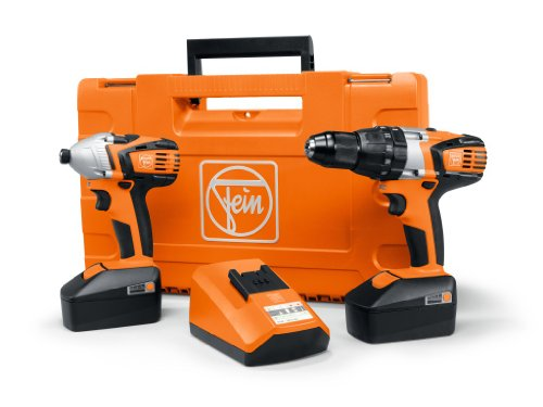 Fein Combo ASB18-ASCD18W4 Cordless Combi Drill with Impact Driver includes 2 x 4.0Ah Batteries