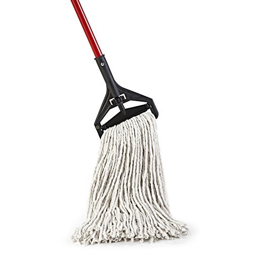 O-Cedar Heavy Duty Looped-End String Mop, Pack - 1, Commercial-Grade