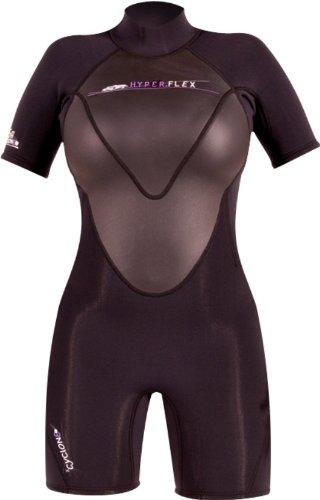 Hyperflex Wetsuits Cyclone22.5mm Primavera Traje de la Mujer, Hombre, Color Negro, tamaño 4