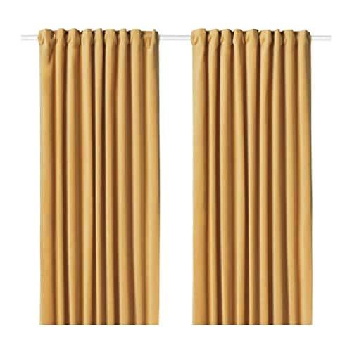 IKEA Sanela Vorhänge 1 Paar goldbraun 704.189.00 Größe: 55x98