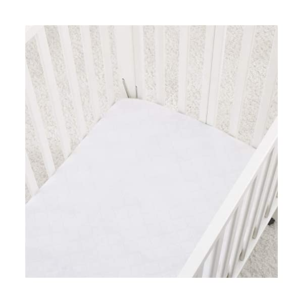Carter's Water Resistant Quilted Mini Crib Fitted Mattress Pad, White
