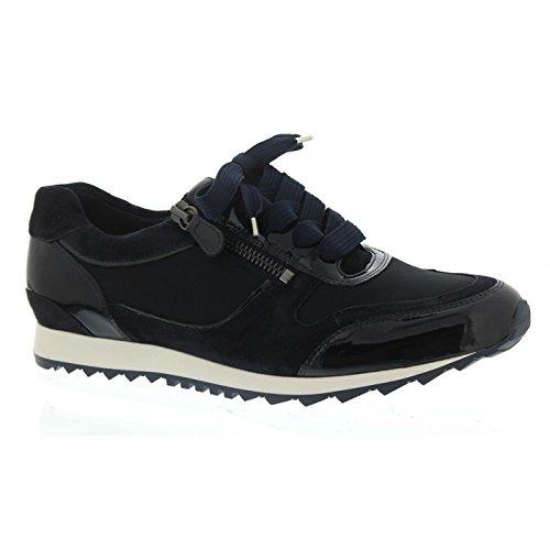 Hassia Barcelona, Sneaker, Dorelack-Leder, Ocean, Vario-Fussbett, Weite H 301914-3000, Größe 42