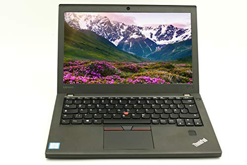 Lenovo ThinkPad X270 12.5 Inch HD Ready (1366x) | Business Laptop | Intel Core i5-6th Gen 8 GB RAM - 240 GB SSD Windows 10 Home Keyboard DE | 1.37 kg Black (Refurbished)