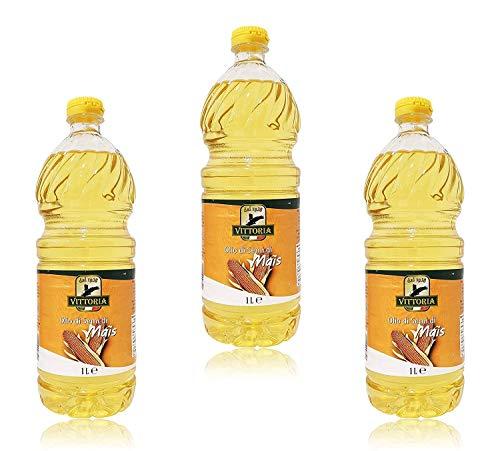 3pz - Olio di Semi di Mais 'Vittoria' - 100% ITALIANO - Made in Italy - Bottiglia Pet da 1 Litro 1lt 1000ml - 3 Pezzi