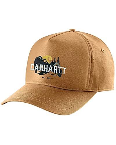 Carhartt Men's Canvas Outdoor Graphic Cap, Brown, OFA