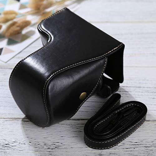 HONGYUE Bolso for la Caja de Cuero PU de la cámara de Cuerpo Completo con Correa for Sony ILCE-6500 / A6500 (Negro) (Color : Black)