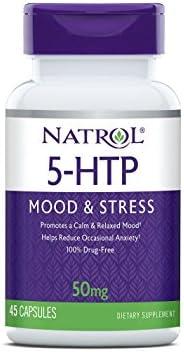 Natrol 5-HTP Capsules, 50mg, 45 Count