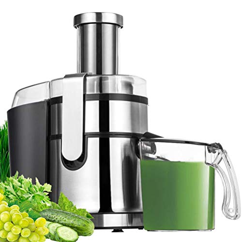 Juice Extractor,Wide Mouth Centrifugal Juicer Machine LED Touch Control Function with Juice Jug,Anti-drip,800W-High Nutrient Fruit & Vegetable 15.7 x 10.6 x 7.9″, 2021 Upgraded Version (Renewed)