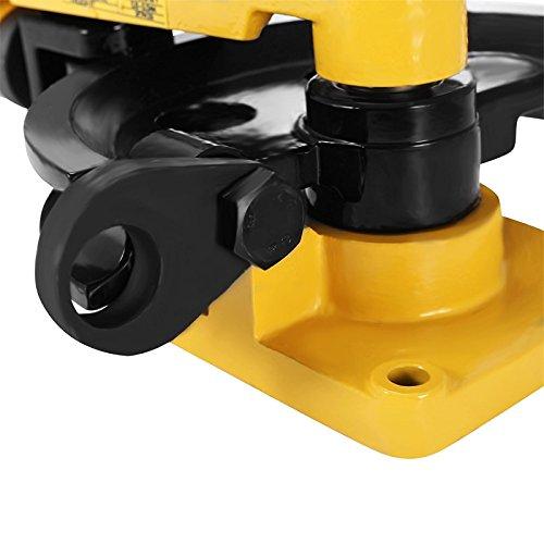 Hihone Manual Pipe Bender 7 In 1 3/8 to 1 Inch 10-25mm O.D.Tubing, 180 Degree Heavy Duty Tube Bender Tubing of Steel Metal Copper