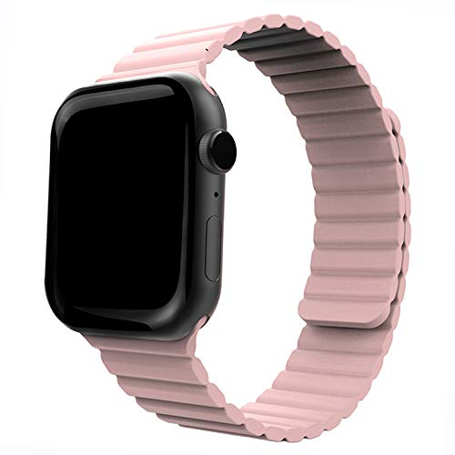 Silicone Magnetic Watch Bands for Apple Watch 38mm 40mm ONELANKS Adjustable Loop Strap with Strong Magnetic Closure for iWatch Series 6 5 SE 4 3 2 1