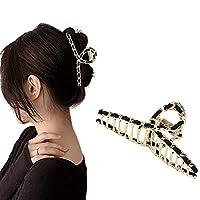 ROOYA BABY Direct-JP ヘアクリップ バンスクリップ オフィス 髪飾り シンプル ヘアキャッチ クリップ 大きめ 髪留め ヘアアクセサリー 通勤 お洒落 ヘアアクセサリー ヘアクリップ