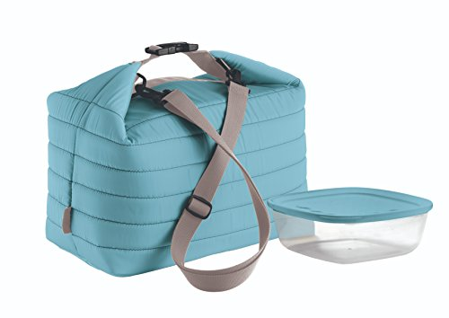 Guzzini, Grosse Thermotasche M/Frischhaltedose Handy, (Bag) 30 x 18 x h30 cm; (Container) 19,6 x 19,6 x h7 cm - 1400 cc