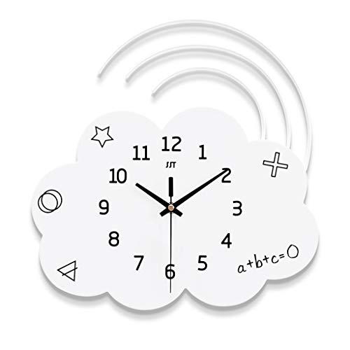 Zoppir wandklok, leuke stille digitale decoratieve wandklok, niet tikkend, werkt op batterijen, woonkamer/thuis/kantoor wand/kinderkamer wanddecoratie