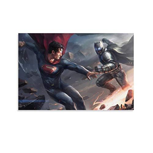 SSKJTC Lienzo para sala de estar Decration Superhéroe Batman Cartoon Comic Batman Vs Superman Modern Office Canvas Art Wall Decor 50x75cm