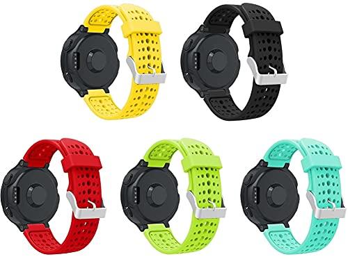 Gransho Correa de Reloj Reemplazo Compatible con Garmin Forerunner 235 / Forerunner 735XT / Forerunner 220 / Forerunner 230, la Correa de Reloj Watch Band Accessorios (5-Pack H)