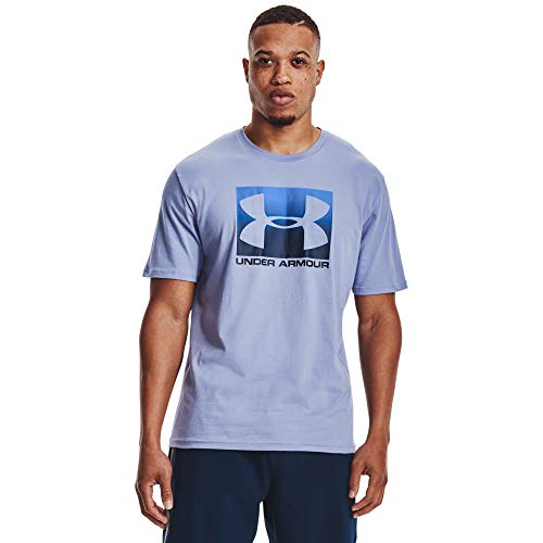 Under Armour UA Boxed Sportstyle, Camiseta Hombre, Washed Blue/Blue Circuit, XS