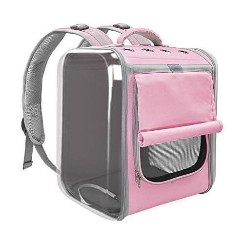 Pet Carrier for Honden Cat Ademende Dog Backpack Cat Carrier draagtas Portable Dog Outdoor reistas for Yorkie Chihuahua (Color : Pink, Size : 35x30x40cm)
