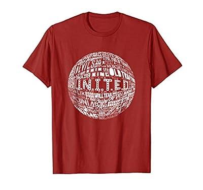 Manchester United - White Typography Print t-shirt
