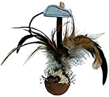 TRIXIE Bola con pluma y sonido, 15 cm, Gato