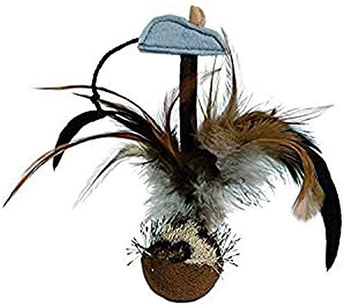 Trixie 45730 Steh-auf-Federball mit Maus, Plüsch, 15 cm