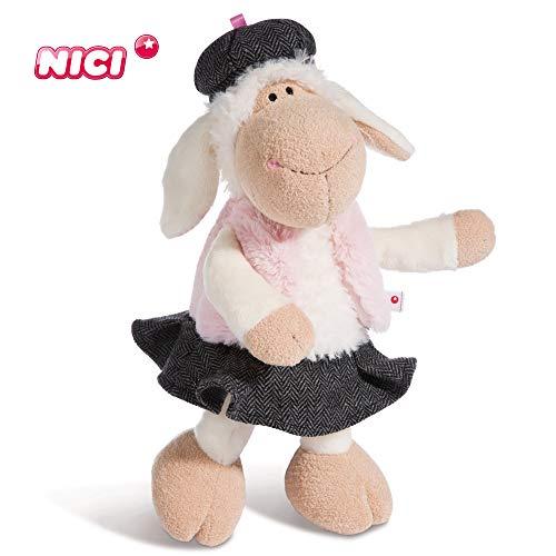Nici Plüschtier Schaf Jolly Chic 35 cm – Schaf Kuscheltier für Mädchen, Jungen & Babys – Flauschiges Stofftier zum Kuscheln, Spielen und Schlafen – Schmusetier für Kuscheltierliebhaber – 44269
