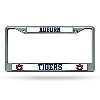 NCAA Rico Industries Standard Chrome License Plate Frame Auburn Tigers  6 x 12.25-inches