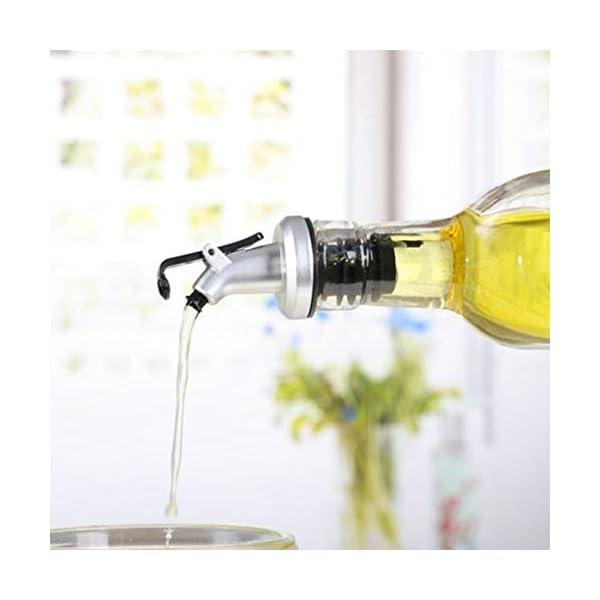 Bomcomi Práctica Botella de Aceite de Oliva pulverizador Canalón del