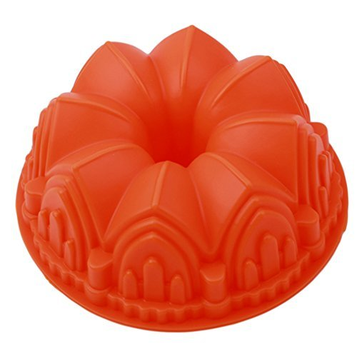 ODN Gugelhupf-Form Silikon Ø 21cm Guglhupf Backform Kuchenform antihaftbeschichtet Orange
