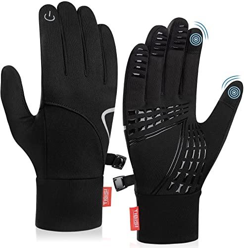 Touchscreen Winter Handschuhe Herren Damen, Laufhandschuhe Fahrradhandschuhe Skihandschuhe, leicht atmungsaktiv warme Winddicht für Wandern Radfahren Klettern Skifahren Motorrad Bergsteigen (S, TM01)