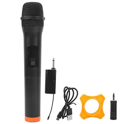 Micrófono uno para uno Karaoke Metal Micrófono de mano Conveniente para los amantes de la música