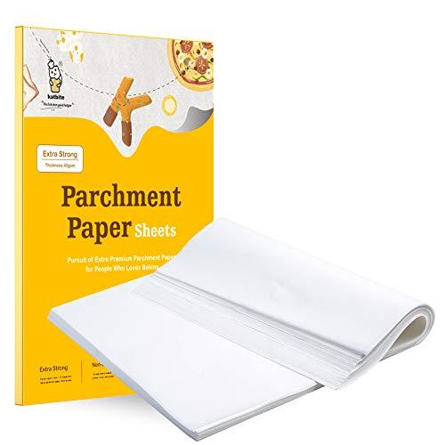 katbite Backpapier 200 Stück, 30.5 x 40.6 cm Weiß Zuschnitte Pergament Papier, zum Backen von Keksen, Kochen, Backen, Braten
