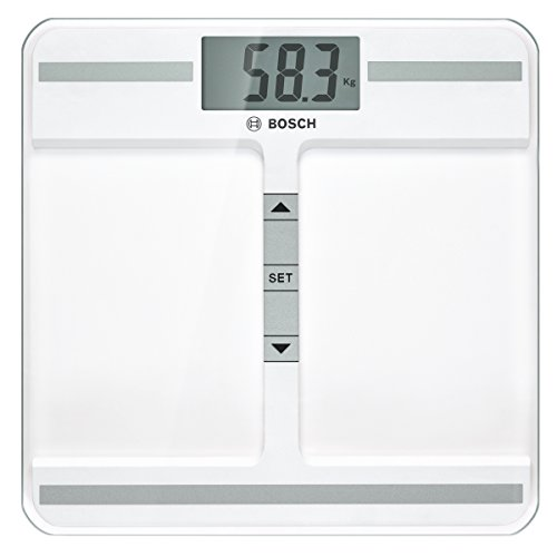 Bosch PPW4212 - Bascula de bano, 40 x 91 mm, transparente, plaza, litio, color blanco