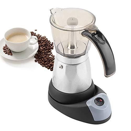 480W Espressokocher Elektrisch, Mokkakanne Kaffeebereiter Teekanne 300ml 6 Tassen, Kaffeekocher mit Praktischem Griff, Modernes Design, Einfach zu Reinigen, für Unterwegs und Zuhause