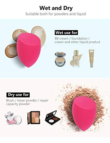 InnoGear Makeup Sponge, 10 Pcs Makeup Sponges Blender Set Beauty Cosmetic Foundation Blending Applicator Puff, Flawless for Liquid Cream Powder (Multi colored)