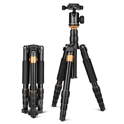 QZSD-Q278 Trípode de Viaje Ligero, trípode de Cámara, monopié, Portátil, Flexible, Cabezal de Bola Profesional para Cámara Canon Nikon DSLR