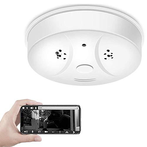 1080P WiFi Camera Smoke Detector Hidden Camera Mobile Phone Remote Monitoring Motion Detection Mini Video Recorder for Home Office