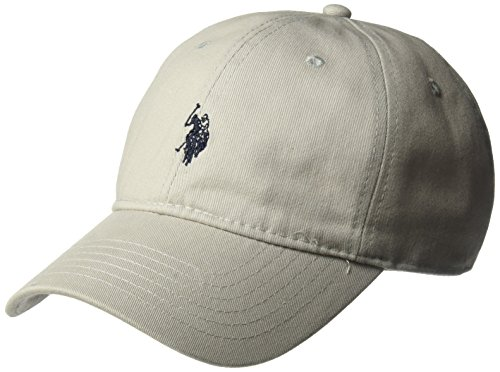 U.S. Polo Assn. Herren Washed Twill, 100% Cotton, Adjustable Baseball Cap, hellgrau, Einheitsgröße