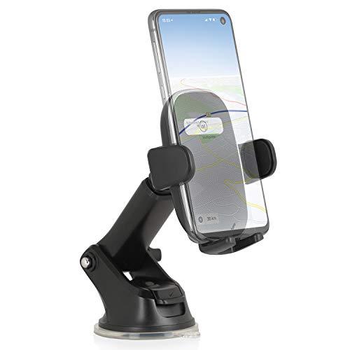 Wicked Chili Auto Handyhalterung für Frontscheibe und Armaturenbrett kompatibel mit Samsung Galaxy S20 Ultra S10 Lite S9 Plus Note10+ A90 A71 A60 A50 (2019) A51 A41 A10 M40 M30s M10 Z Flip XCover Pro