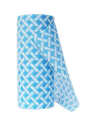JEBBLAS Usa e getta J Panni Confezione di 90 - Blu Rotolo multiuso tessuto Non tessuto antiaderente asciugandosi stracci casa pulizia panno cucina piatto canovaccio