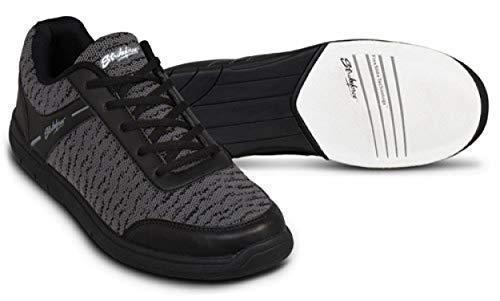 EMAX KR Strikeforce Flyer Bowling-Schuhe Damen und Herren, für Rechts- und Linkshänder in 4 Farben Schuhgröße 38-48 wahlweise mit Schuh-Deo Titania Foot Care (Mesh Schwarz, US 14 (46))