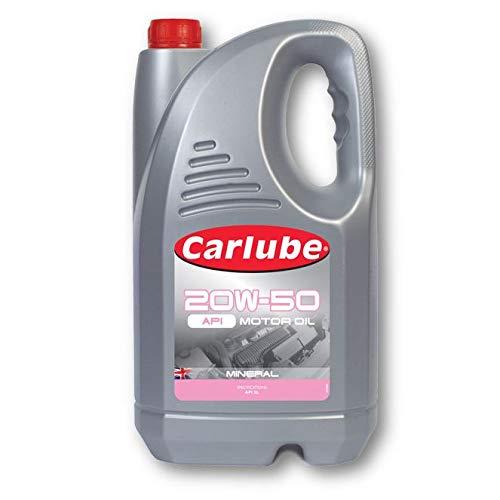 Carlube 20W-50 API - Olio motore minerale 5 litri