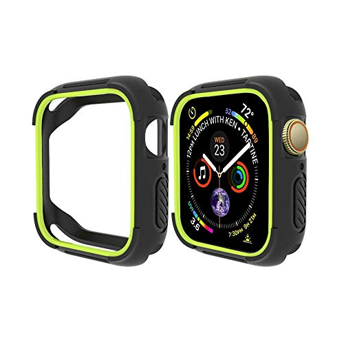 FayYang Compatible Apple Watch 4 Case 40mm,Shock Proof Bumper Cover Scratch Resistant Protective TPU Case Fits for iWatch 4 Cover 40mm, Nero Giallo